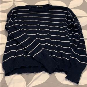 Navy white striped sweater brandy melville